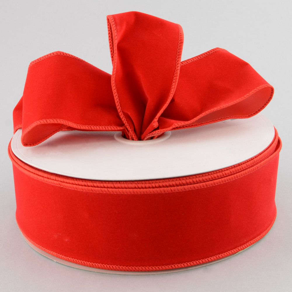 Red Wired Ribbon | 2 5 Red Velvet Wired Ribbon 50 Yards Rl544724 Craftoutlet Com