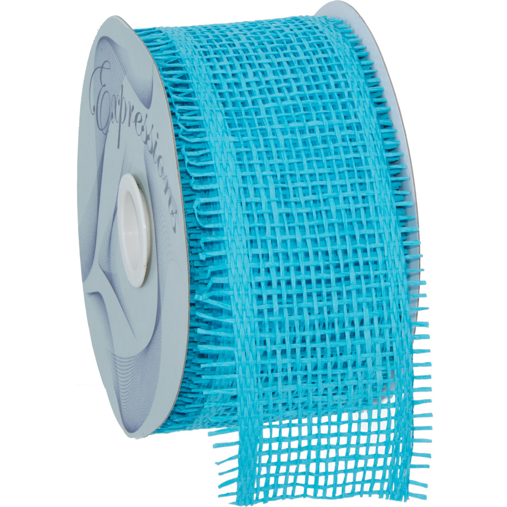 2 5 Quot Paper Mesh Ribbon Turquoise Blue 20 Yards