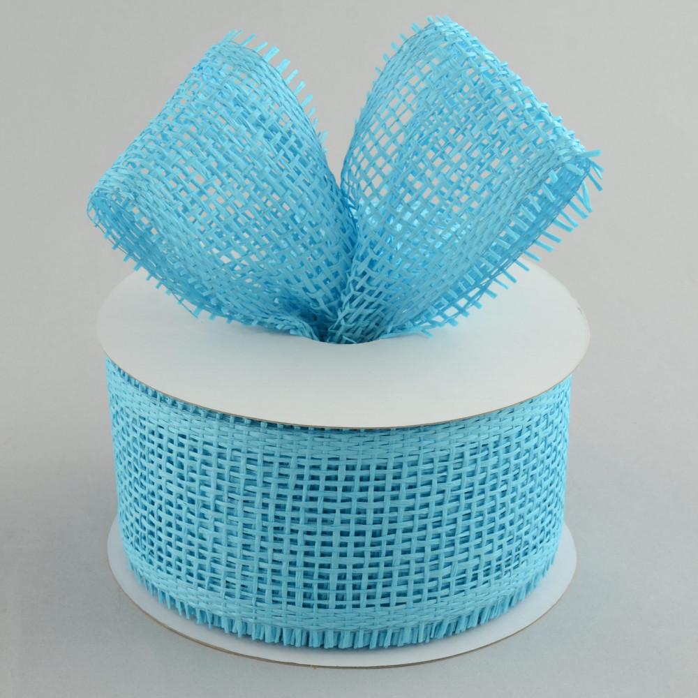 2 5 Quot Paper Mesh Ribbon Turquoise Blue 20 Yards