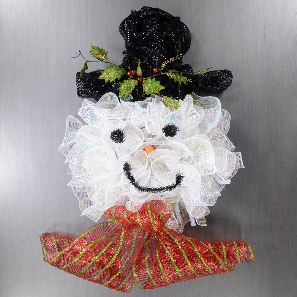 Deco Mesh Snowman Wreath Kit [] - CraftOutlet.com