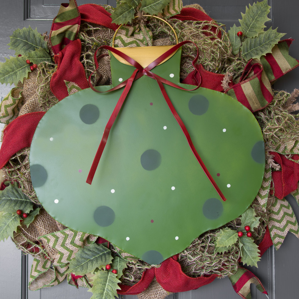 Polka dot christmas ornaments - Metal Polka Dot Christmas Ornament Decoration Green 16