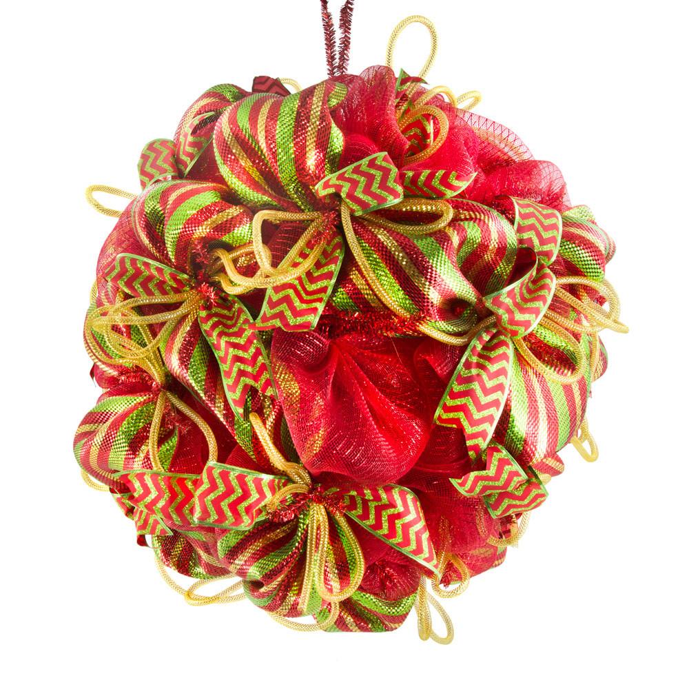 Deco mesh christmas ball kit craftoutlet