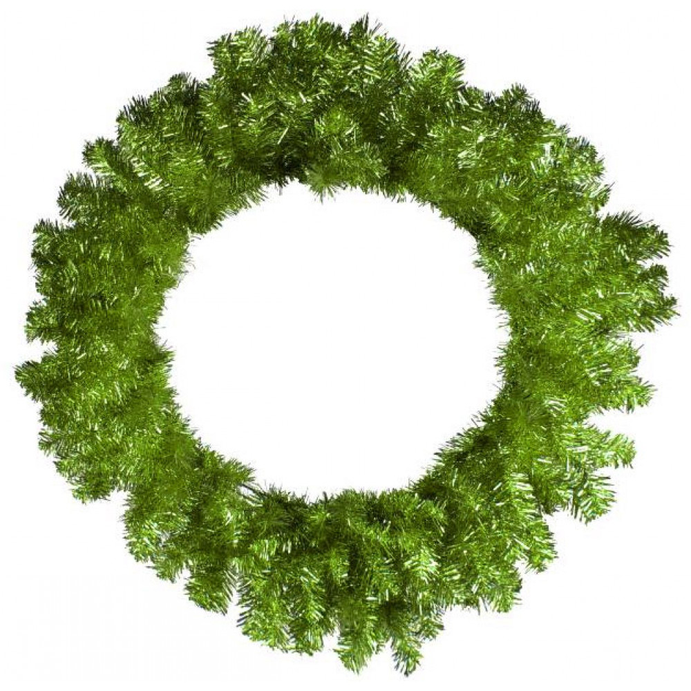 Quot tinsel wreath lime green xx craftoutlet