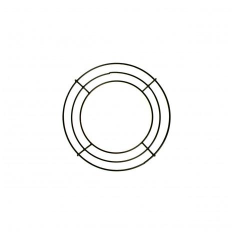 6 Inch Wire Wreath Form 3 Wire Black Md005002