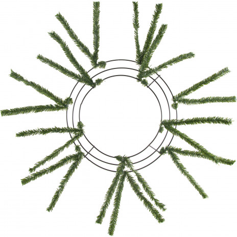 "10-20"" Tinsel Work Wreath Form: Green"