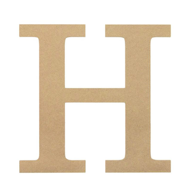 "10"" Decorative Wood Letter: H [AB2032] - CraftOutlet.com"