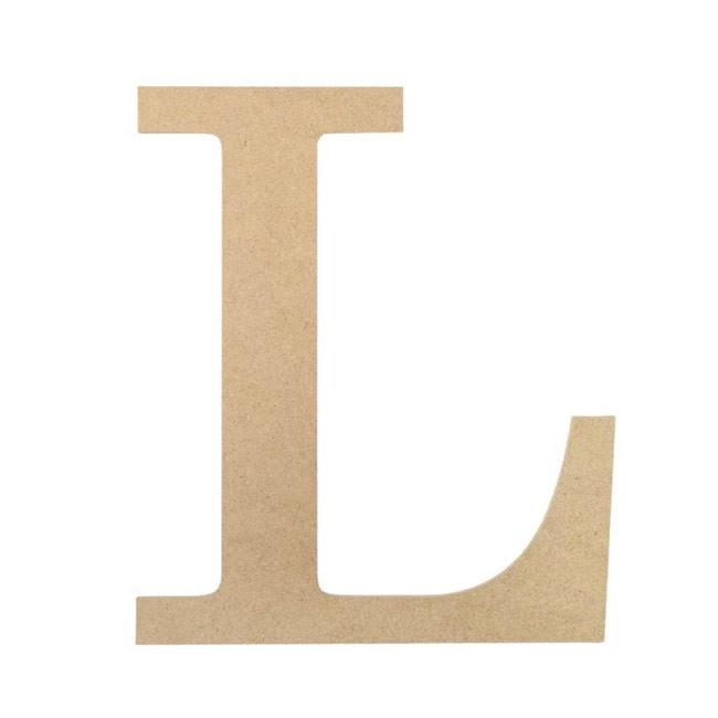 """10"""" Decorative Wood Letter: L [AB2036] - CraftOutlet.com"""