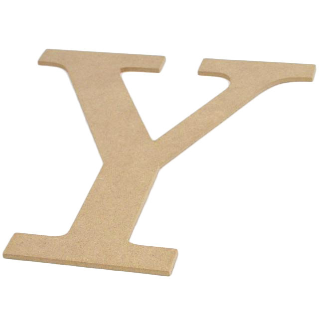 "10"" Decorative Wood Letter: Y [AB2049] - CraftOutlet.com"