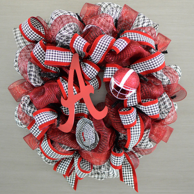 Alabama houndstooth wreath kit for Craft wreaths for sale