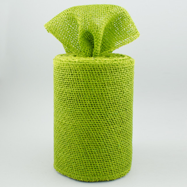 6 burlap ribbon lime green 10 yards jrh06 60