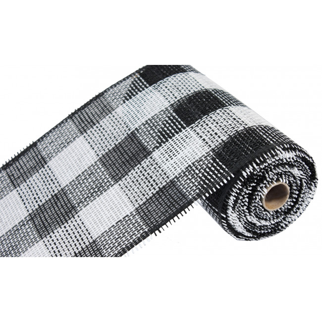 10 Quot Paper Mesh Roll Black White Plaid 10 Yards