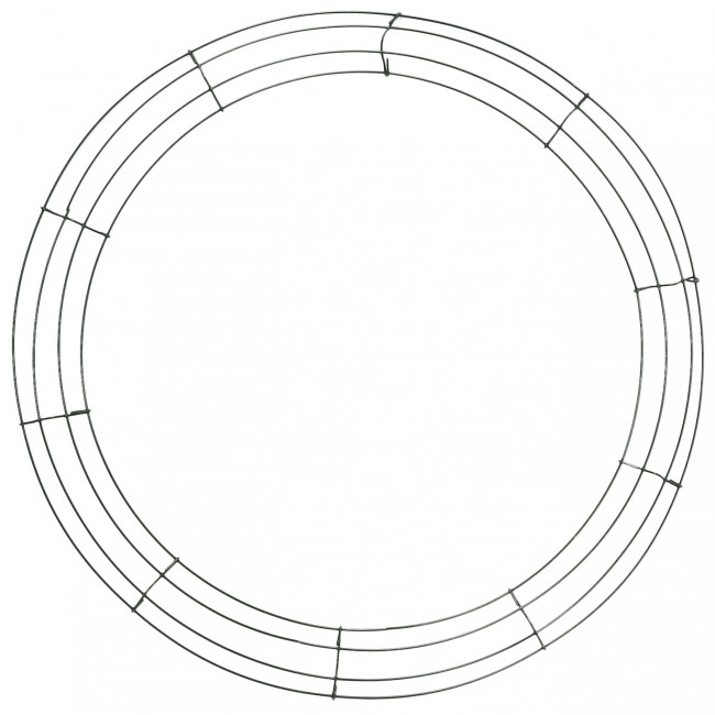 box wire wreath form  20-inch round  36007