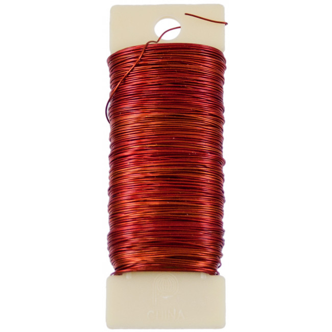 24 gauge paddle floral wire red 532415 for 24 gauge craft wire