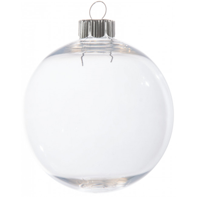 Clear plastic ball ornament 83mm 2610 62 for Clear plastic balls for crafts