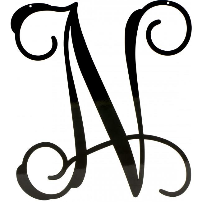 Script Letter N on Cursive Lowercase O
