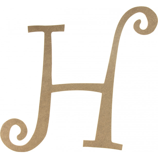 "14"" Decorative Wooden Curly Letter: H [AB2152 ..."