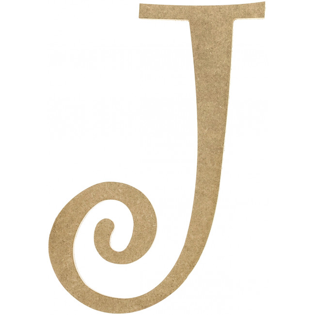 14 Quot Decorative Wooden Curly Letter J Ab2154