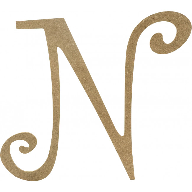 wooden letter d 14 quot decorative wooden curly letter n ab2158 25673