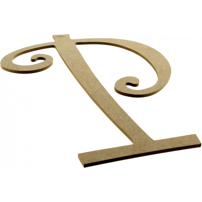 "14"" Decorative Wooden Curly Letter: P [AB2160 ..."