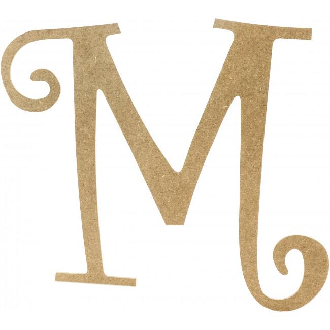 wooden letter m M