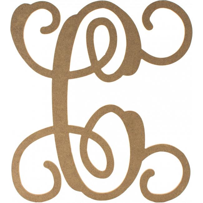 12 Wood Letter Vine Monogram C Ab2198