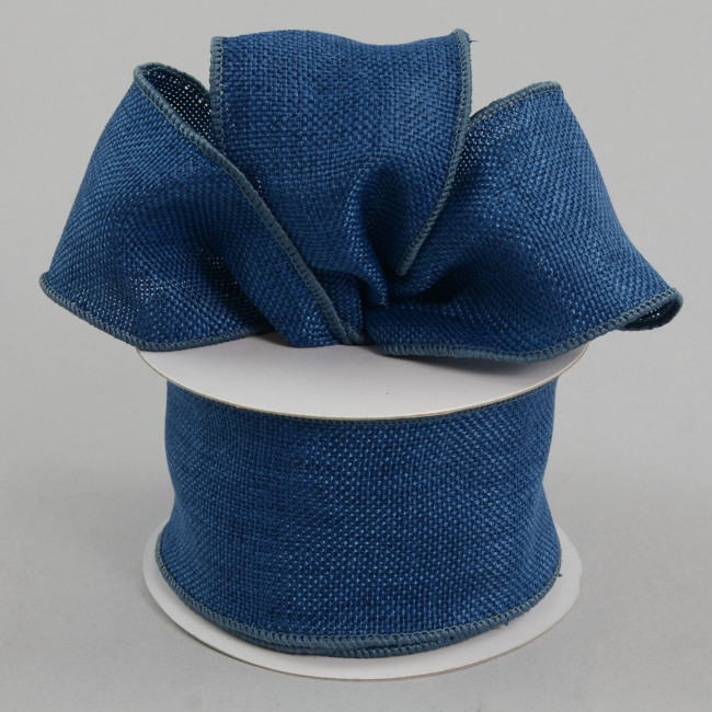2 5 Quot Faux Burlap Ribbon Denim Blue 10 Yards Rdjb62 13