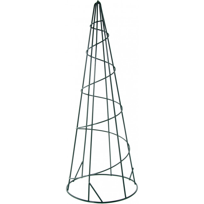 15 u0026quot  metal wire cone form  green  171860