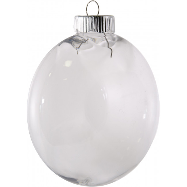 Clear oval ball plastic ornament 100mm 2610 66 for Clear plastic balls for crafts