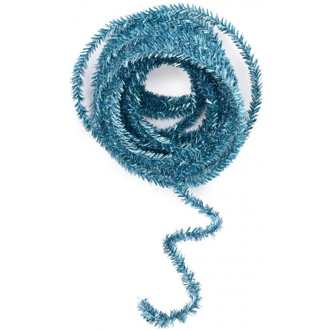 Metallic tinsel roping turquoise feet xg