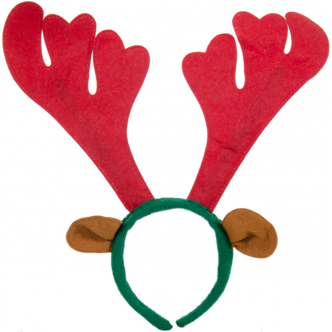 Christmas reindeer antlers headband 26690 rg for Reindeer antlers headband craft