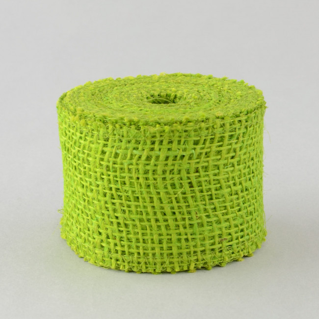 2 5 burlap ribbon apple green 10 yards jrh025 60 for Green burlap ribbon
