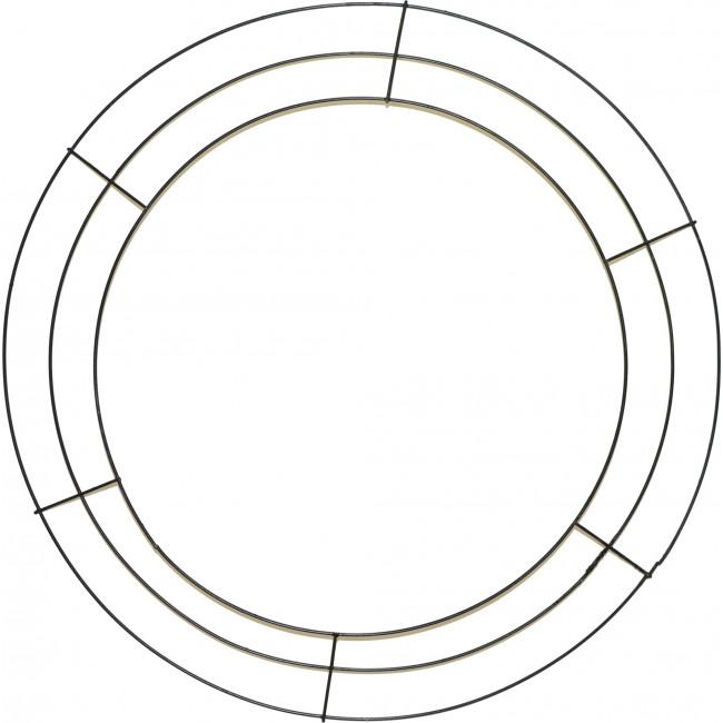 20 Quot Round Wire Wreath Form Black Ke103502 Craftoutlet Com