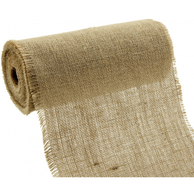 9 Quot Burlap Fabric Roll With Fringed Edge Natural 10 Yards