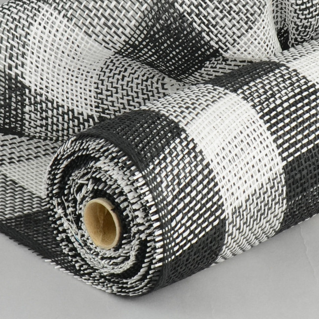 21 Quot Paper Mesh Roll Black White Plaid 10 Yards