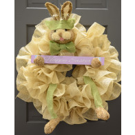 Bunny Wreath Accent Kit: Green