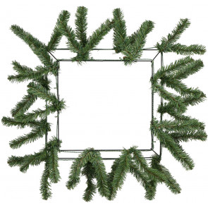 "15-24"" Square Work Wreath Form: Green"