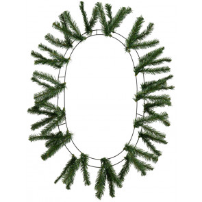 "15-24"" Oval Work Wreath Form: Green"