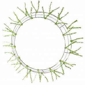 "26-36"" KD Work Wreath Form: Lime Green"