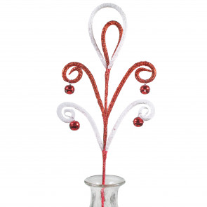 28 glitter spiral bell spray red
