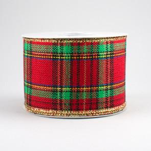 25 woven plaid ribbon fresh christmas tartan plaid 10 yards 25 - Plaid Christmas Ribbon