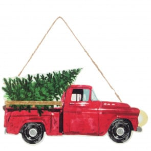 Old Truck With Christmas Tree.Christmas Products Old Truck Craftoutlet Com