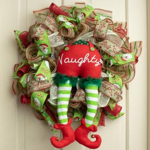 18 elf bottom naughty 18 - Michaels Christmas Garland