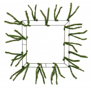 "15-24"" Square Pencil Work Wreath Form: Green"