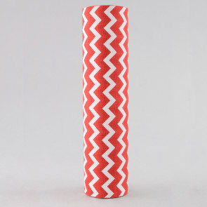 "9.5"" Canvas Chevron Ribbon: Red & White (5 Yards)"