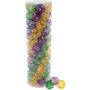 "1"" Wire Balls: Mardi Gras Assortment (76)"