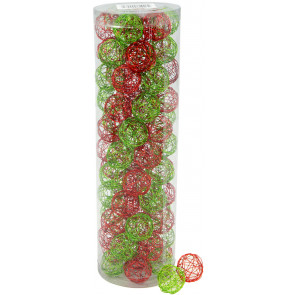 "1"" Wire Balls: Lime & Red (76)"