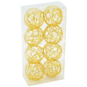 """1.5"""" Wire Balls: Gold (8)"""