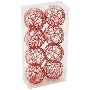 "1.5"" Wire Balls: Red (8)"
