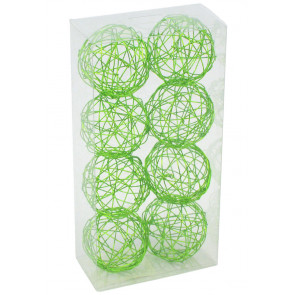 "1.5"" Wire Balls: Lime Green (8)"