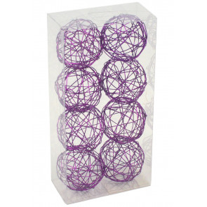 "1.5"" Wire Balls: Purple (8)"